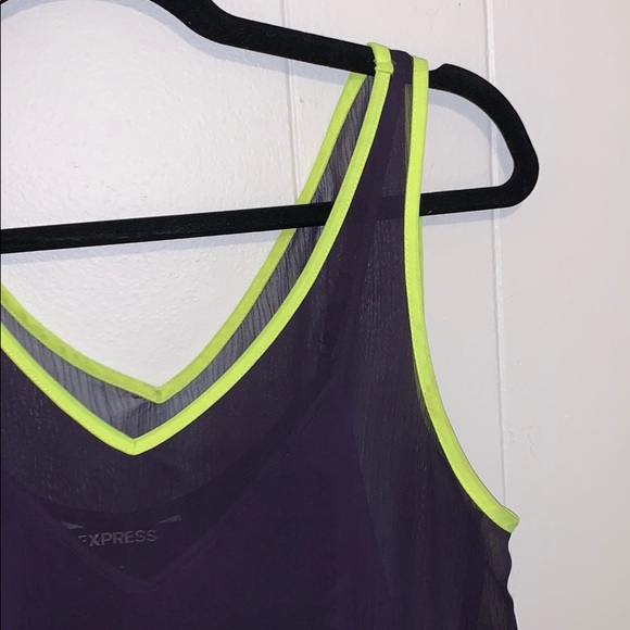 Express Dresses & Skirts - Express black and neon yellow trim dress small
